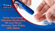 Order One-Touch Diabetes Monitoring Kit and Blood Glucose Test Strips with Meter