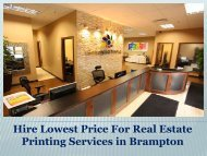 Hire Lowest Price For Real Estate Printing Services in Brampton