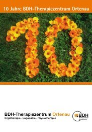 10 Jahre BDH-Therapiezentrum Ortenau