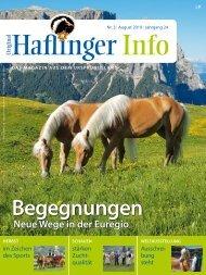 Haflinger Info – August 2019 (Leseprobe)