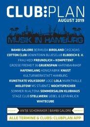 Clubplan Hamburg - August 2019