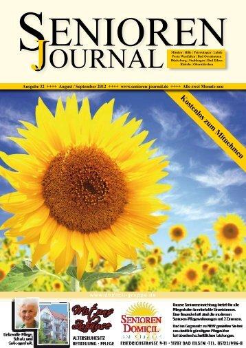 Ausgabe 32 - Aug. / Sept. 2012 - Senioren Journal