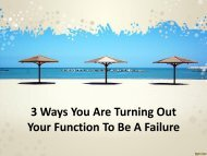 3 Ways You Are Turning Out Your Function To Be A Failure