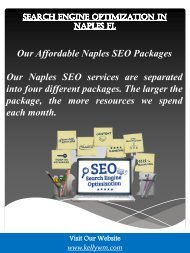 Search Engine Optimization In Naples FL
