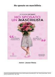 Scaricare Libri Ho sposato un maschilista Gratis Di Joanne Bonny