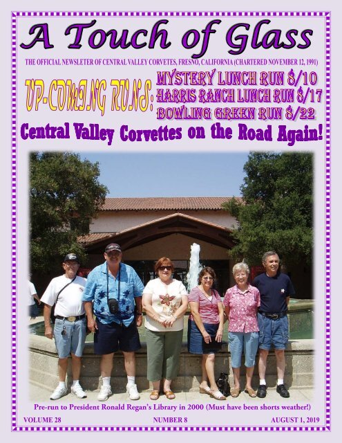 Central Valley Corvettes of Fresno - August 2019