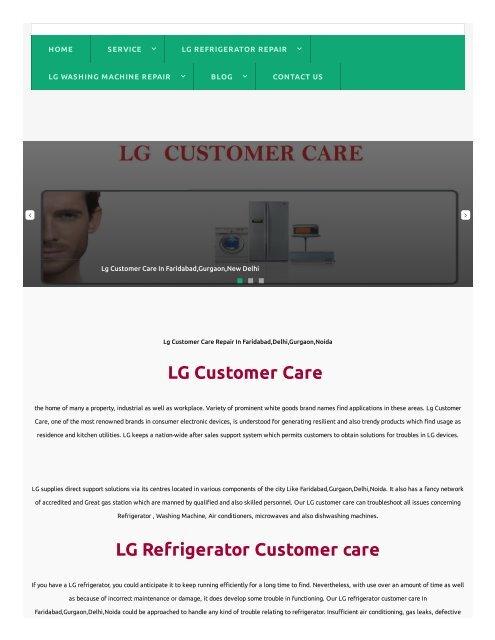 Lg washing machine service centre