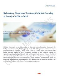 Refractory Glaucoma Treatment Market Widespread Research and Fundamental study to 2026