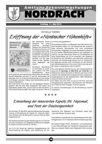 Eröffnung Der »Nordracher Höhenhöfe - Gemeinde Nordrach