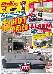 Hot Price Alarm bei Rolli SB-Möbelmarkt in 65604 Elz bei Limburg