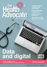 The Health Advocate August 2019