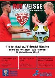 Stadionzeitung TSV Buchbach - SV Türkgücü München