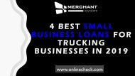 4 best small business loans for trucking businesses in 2019