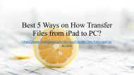 How to Transfer Files from iPad to PC