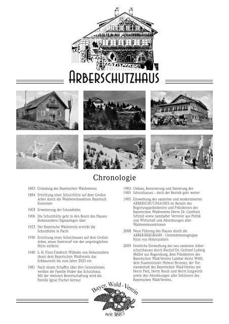 Speisekarte Arberschutzhaus Winter 2019 2020