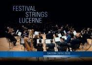 Festival Strings Lucerne Saison 2019-2020