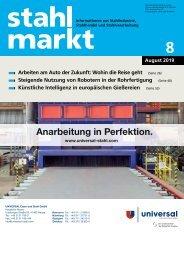Leseprobe stahlmarkt 8.2019 (August)
