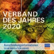 Verband des Jahres 2020 - DGVM INNOVATION AWARD