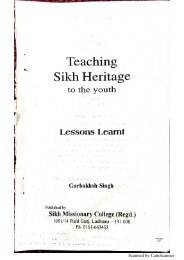 Teaching Sikh Heritage To The Youth