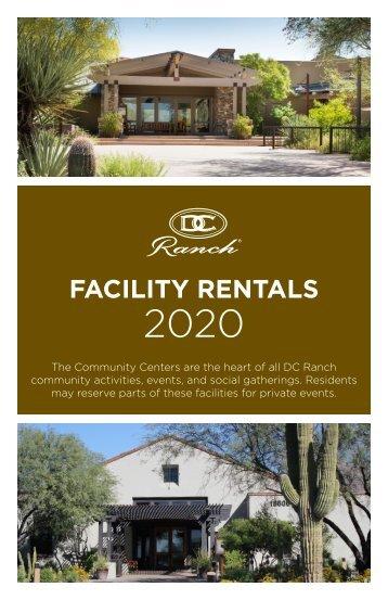 Facility Rental Brochure 2020