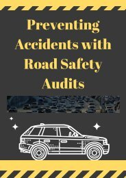 Preventing Accidents with Road Safety Audits