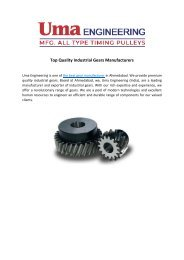 Top Quality Industrial Gears Manufacturers
