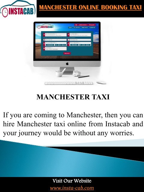 Manchester Online Booking Taxi