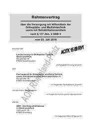 Rahmenvertrag Orthopädie-, Medizin- und Rehatechnik - AOK ...