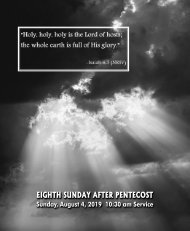 08_04_2019 1030 AM Service Eighth Sunday After Pentecost