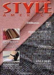 Revista STYLE AMERICA Materiales, Insumos y Tecnología 2019-2 Ed.21