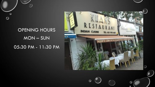 Khan's Restaurant - Best Indian Restaurant & Takeaway In Battersea, London