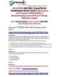 [2019-August-Version]New Braindump2go 220-1001 PDF and 220-1001 VCE Dumps Free Share(Q16-Q30)