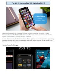 Top Ios 13 Features That Will Excite You(2019)
