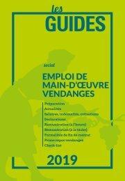 Les Guides du SGV - Emploi de main-d'œuvre vendange 2019