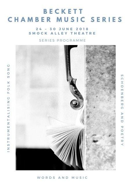 Beckett Chamber Music Series 2018 Programme