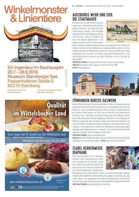 SchlossMagazin August 2019 Bayerisch-Schwaben und Fünfseenland2