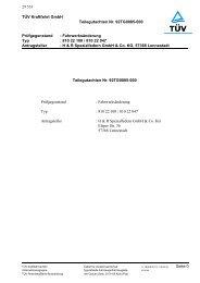 TÜV Kraftfahrt GmbH Teilegutachten Nr. 92TG0085-000 ... - H&R