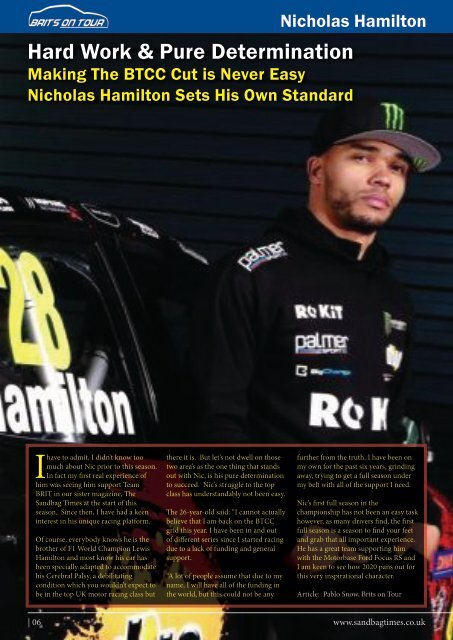 Brits on Tour Issue No:3 - Snetterton
