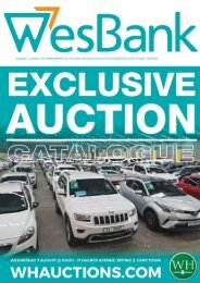 WH Wesbank Auction Catalogue - 7 August Cape Town