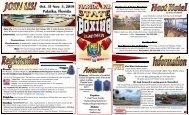2019 Florida PAL State Boxing Championship Boxer Flyer