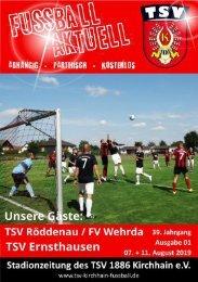 07. + 11. 08.2019 - Stadionzeitung Röddenau + Wehrda + Ernsthausen