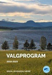 Sigdal og Eggedal Høyres program 2019 - 2023