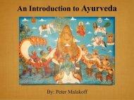Ayurveda Introduction 12.19