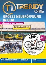 TRENDYone | Das Magazin - Ulm / Neu-Ulm - April 2019