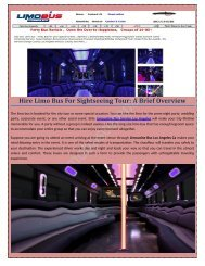 Limousine Bus Rentals Service – Now The Party Is On The Wheel