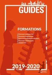 Les Guides du SGV - formations 2019-2020