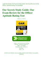 {epub download} Oar Secrets Study Guide Oar Exam Review for the Officer Aptitude Rating Test [Epub]$$