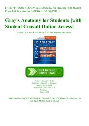 FREE PDF DOWNLOAD Gray's Anatomy for Students [with Student Consult Online Access] ^#DOWNLOAD@PDF^#