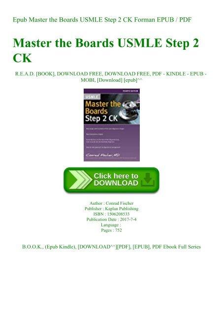 Epub Master the Boards USMLE Step 2 CK Forman EPUB PDF