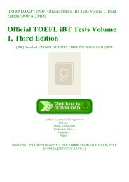 [DOWNLOAD^^][PDF] Official TOEFL iBT Tests Volume 1  Third Edition [DOWNLOAD]
